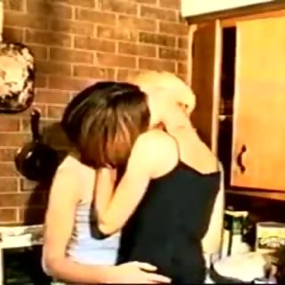 mother and not her daughter kissing