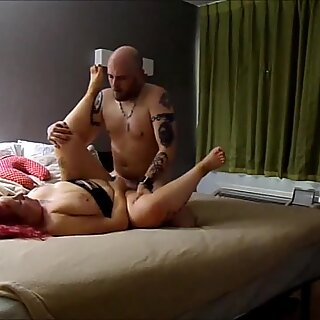 Amatører jævla for ekte - (Slow Motion) Tykk Rompe Tattooed White Jente