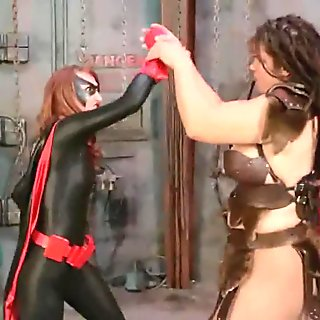 Huxley superheroine beat down