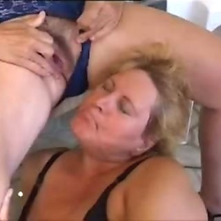Older Lesbos fuck by the pool
