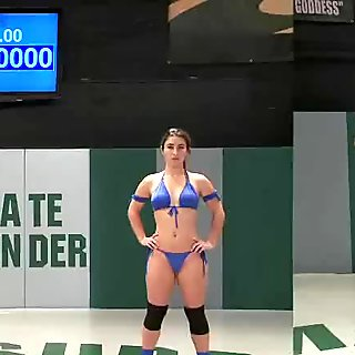 Sexy Wrestler Gets Her Cunt Destroyed