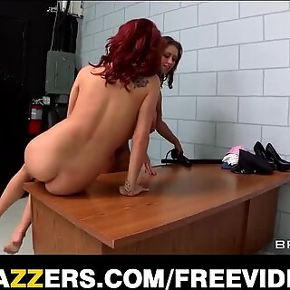 Incredibly SEXY Prison CO goes down on one of her inmates