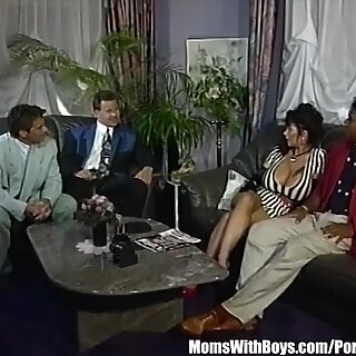Explosive massive Mature titties jizz Showered Gangbang