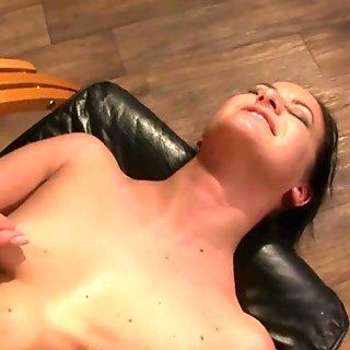 Lezdom domina vibrating her pathetic sub