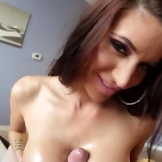 Hot MILF tifucking her huge boobs