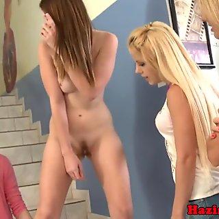 A Group Of Horny Lesbian Schoolgirls