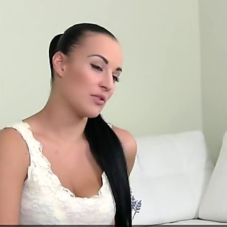 bigboobs casting sappho feasting on agents pussy