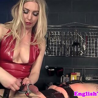 Femdom punished tied down submissive