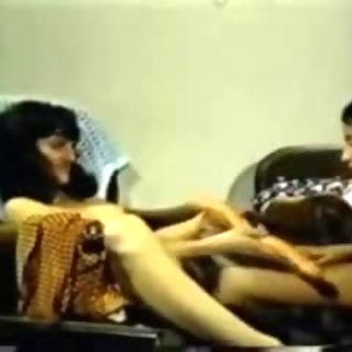 Chair Retro Lesbian Shared Dildo