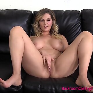 First Time Anal For ginormous mammories platinum-blonde MILF on Casting Couch