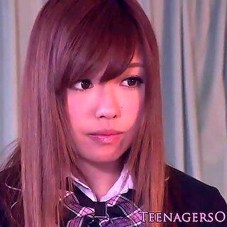 Deslumbrante japonasas alunas degustação dela gozar dentro