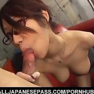 China Mamá Fuuka Takanashi en Gafas Blating Polla
