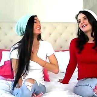 (Cyrstal Rae &amp_ Kacey Quinn) Lesbian Lovely Teen Girl In Sex Action Tape movie-12