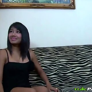 Tattooed Thai beauty with great tits gets pussy fucked hard by a horny tourist