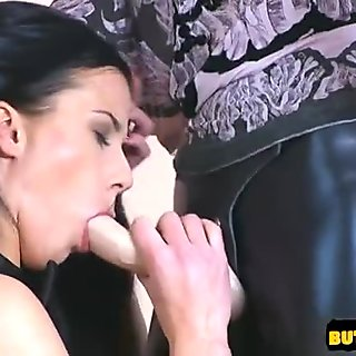 Horny student cum filled pussy