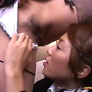 Japanese honey licking another Asian cunt