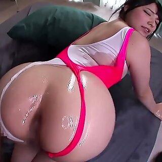 Ai uehara's oily immense backside get plumbed