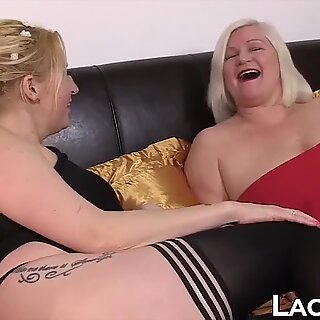 Big tits granny loves hardcore interracial threeway pounding