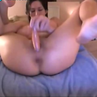 Big Titty Webcam Girl Squirts On Her Own Mouth