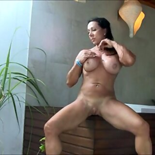 Fit Goddess Touching And Pleasing Herself