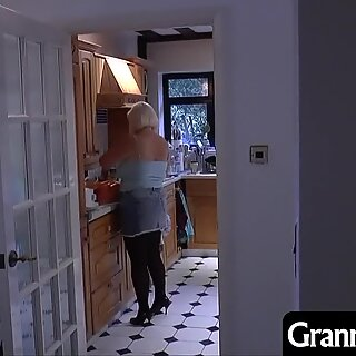 Granny comes home from a day of shopping and finds a young masked intruder in the house!
