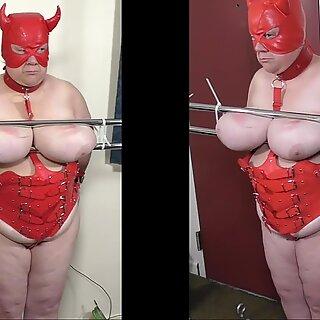 07-aug-two017 tietjes marteling van de slet slaaf's melk blikjes met naalden en electro deel 1 van 2