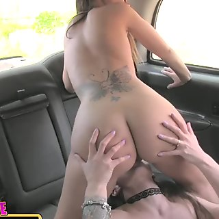 Female Fake Taxi Hot lesbian fuck that sexy driver will never forget