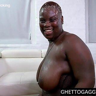 Forte Anal para Negras Gordas de Degradadas