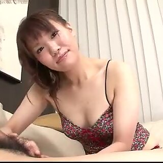 Kana Mimura amateur wife strokes cock until exhaustion