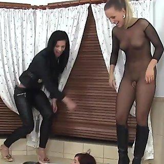 Lesbian whores pissing