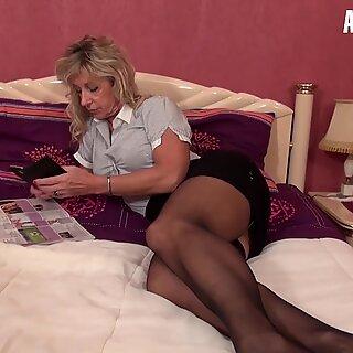 LaCochonne - Marina Beaulieu Big Tits French Mature Deepthroat and Kinky Rough Fuck - AMATEUREURO