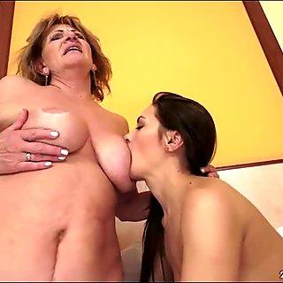 Russian Dominica Fox eats a granny pussy